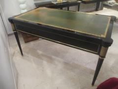 French Directoire Style Ebonized Bureau Plat Desk - 484440