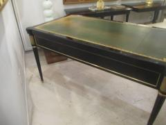 French Directoire Style Ebonized Bureau Plat Desk - 484441