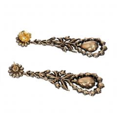 French Early 19th Century Rose Cut Diamond Pendant Earrings - 1224109