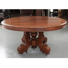 French Early 20th Century Extending Mahogany Dining Table - 1931400