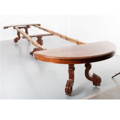 French Early 20th Century Extending Mahogany Dining Table - 1931404