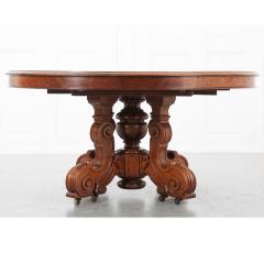 French Early 20th Century Extending Mahogany Dining Table - 1931409
