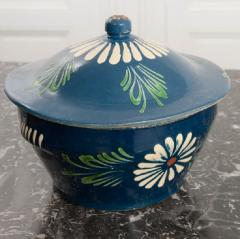 French Early 20th Century Glazed Fa ence Lidded Tureen - 1817335