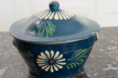 French Early 20th Century Glazed Fa ence Lidded Tureen - 1817340
