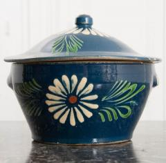 French Early 20th Century Glazed Fa ence Lidded Tureen - 1817342