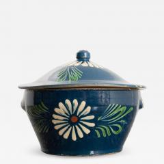 French Early 20th Century Glazed Fa ence Lidded Tureen - 1827148