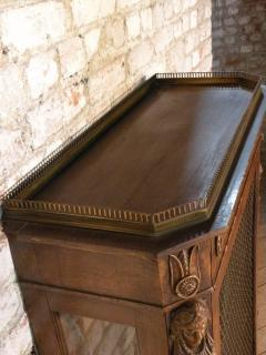 French Empire 19th Century Walnut Bookcase Cabinet - 627097