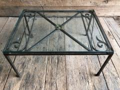 French Empire Iron And Glass Coffee Table - 1040267