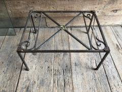 French Empire Iron And Glass Coffee Table - 1040270