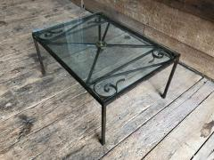 French Empire Iron And Glass Coffee Table - 1040271
