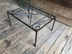 French Empire Iron And Glass Coffee Table - 1040274