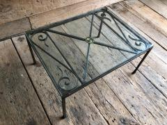 French Empire Iron And Glass Coffee Table - 1040276