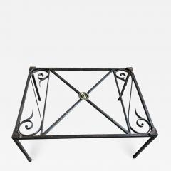 French Empire Iron And Glass Coffee Table - 1040372