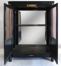 French Empire Lacquered Bibliotheque with Bronze Trellis Doors and Ormolu - 1122139