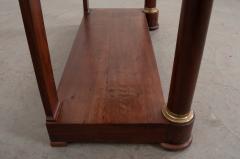 French Empire Mahogany Console Table - 1045891