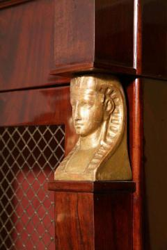 French Empire Mahogany and Giltwood Biblioteque - 397441