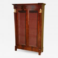 French Empire Mahogany and Giltwood Biblioteque - 403258