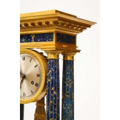 French Empire Ormolu and Lapis Lazuli Mantle Clock circa 1860 - 1202164