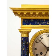 French Empire Ormolu and Lapis Lazuli Mantle Clock circa 1860 - 1202165