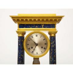 French Empire Ormolu and Lapis Lazuli Mantle Clock circa 1860 - 1202166