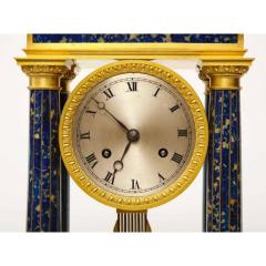 French Empire Ormolu and Lapis Lazuli Mantle Clock circa 1860 - 1202167