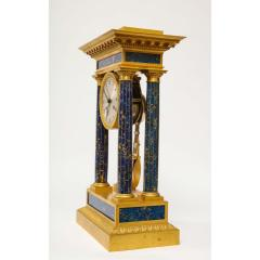 French Empire Ormolu and Lapis Lazuli Mantle Clock circa 1860 - 1202168