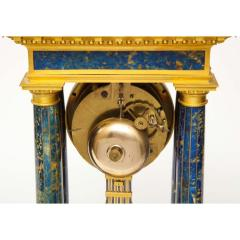 French Empire Ormolu and Lapis Lazuli Mantle Clock circa 1860 - 1202169