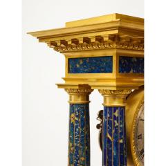 French Empire Ormolu and Lapis Lazuli Mantle Clock circa 1860 - 1202171