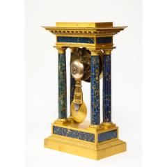 French Empire Ormolu and Lapis Lazuli Mantle Clock circa 1860 - 1202172