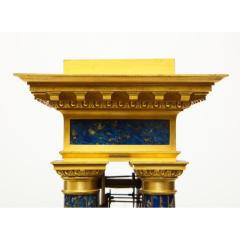 French Empire Ormolu and Lapis Lazuli Mantle Clock circa 1860 - 1202173