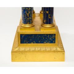 French Empire Ormolu and Lapis Lazuli Mantle Clock circa 1860 - 1202174