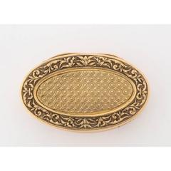 French Empire Oval Gold Snuff Box by H A Adam Paris circa 1820 - 1210292