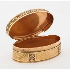 French Empire Oval Gold Snuff Box by H A Adam Paris circa 1820 - 1210294