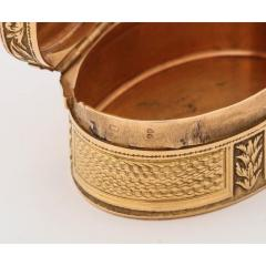 French Empire Oval Gold Snuff Box by H A Adam Paris circa 1820 - 1210295