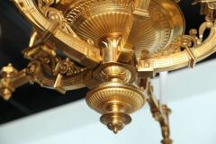 French Empire Style Gilt Bronze Five Light Chandelier 1880 - 385926
