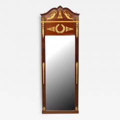 French Empire Style Mahogany and Ormolu Wall Mirror - 1403344