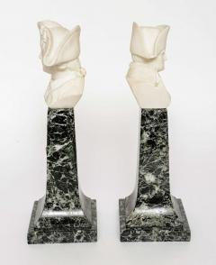 French Empire Style Marble and Alabaster Models of Napoleon and Frederick - 348741