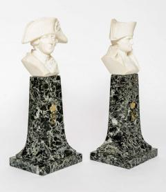 French Empire Style Marble and Alabaster Models of Napoleon and Frederick - 348742