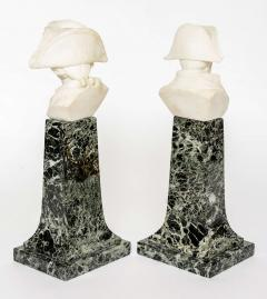 French Empire Style Marble and Alabaster Models of Napoleon and Frederick - 348744
