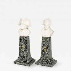 French Empire Style Marble and Alabaster Models of Napoleon and Frederick - 349330