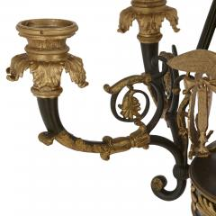 French Empire style ormolu and bronze chandelier - 1907355
