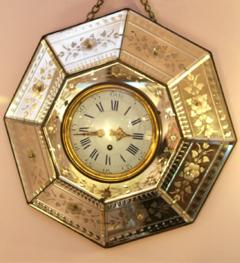 French Etched Mirrored Clock - 175913