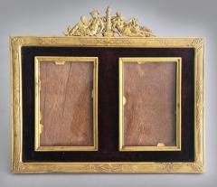 French Gilded Bronze Double Picture Frame - 2057264