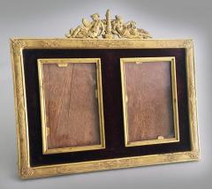 French Gilded Bronze Double Picture Frame - 2057266
