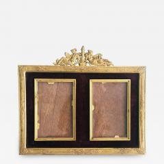 French Gilded Bronze Double Picture Frame - 2060138