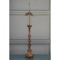 French Gilt Bronze Baroque Style Candlestick Lamp - 1078577