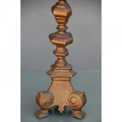 French Gilt Bronze Baroque Style Candlestick Lamp - 1078579