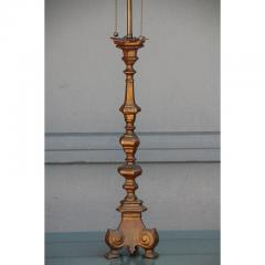 French Gilt Bronze Baroque Style Candlestick Lamp - 1078581