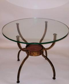 French Gilt Wrought Iron End Table France 1970s - 1180573