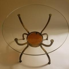 French Gilt Wrought Iron End Table France 1970s - 1180574